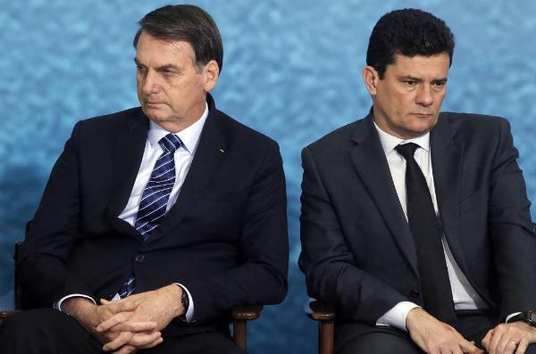 Bolsonaro e o ex-juiz Sérgio Moro