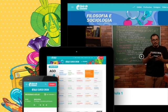 GUIA libera videoaulas do Curso Enem