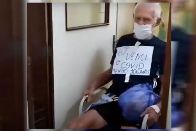 Idoso de 106 anos vence Coronavírus e recebe alta do Hospital Clementino Fraga em João Pessoa