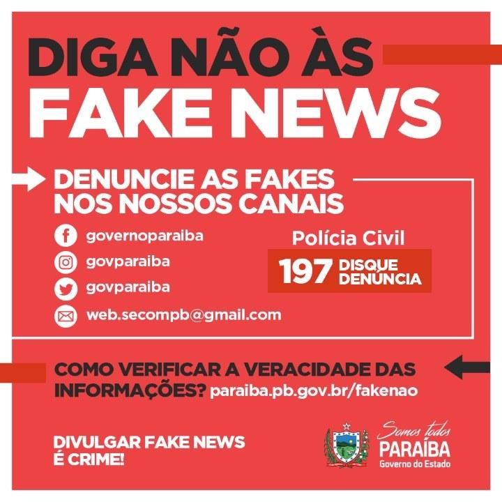 equipe técnica para identificar e combater as fake news na paraíba