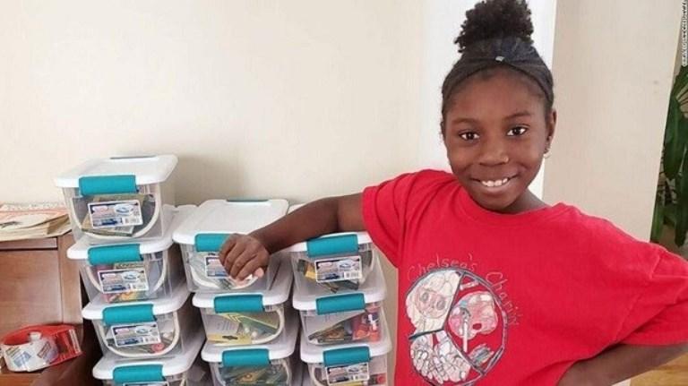 Menina de 10 anos cria instituição de caridade e já ajudou mais de 1.500 crianças na pandemia