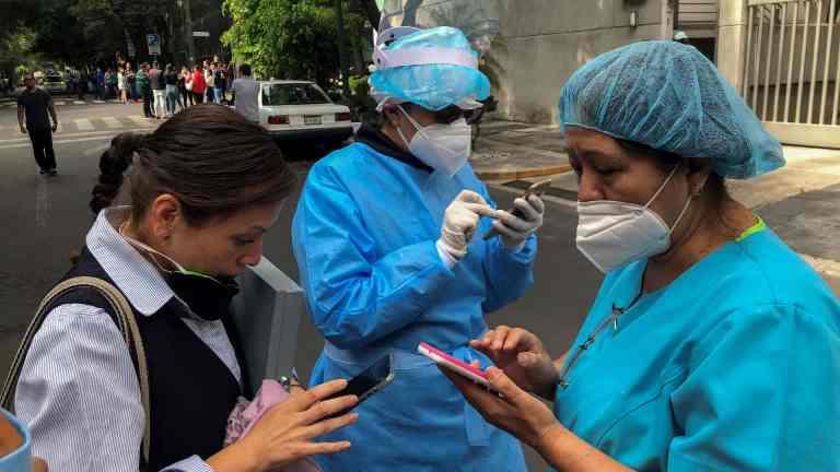Sismo de 7,5 na cidade do México. Alerta de tsunami para América Central