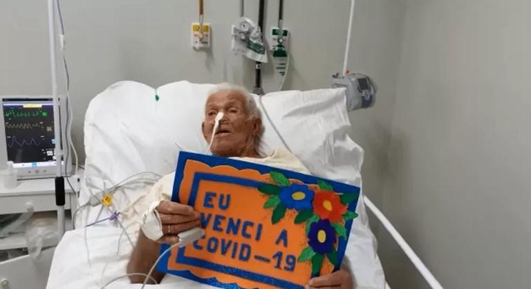 Idoso de 103 anos se recupera da Covid-19 e recebe alta médica após 15 dias internado, na PB